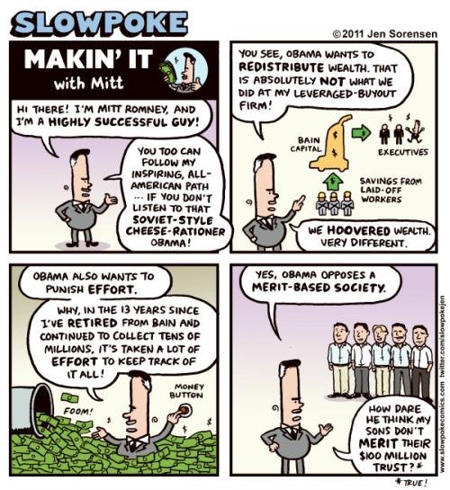 Mitt Romney defending vulture capitalism