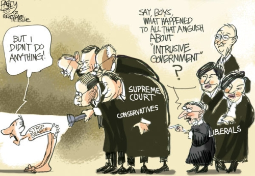 scotus strip search