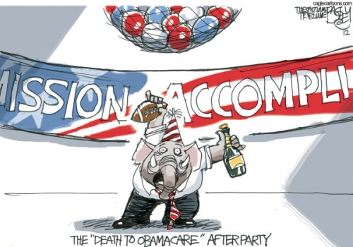 GOP MIssion Accomplished Affordable Care Act Victory Party